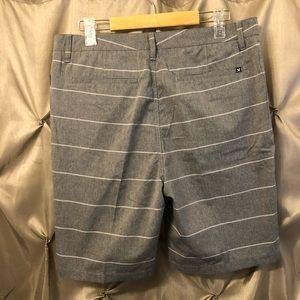 Hurley Shorts - Hurley Davis Men's Shorts Gray Striped 32 NWT